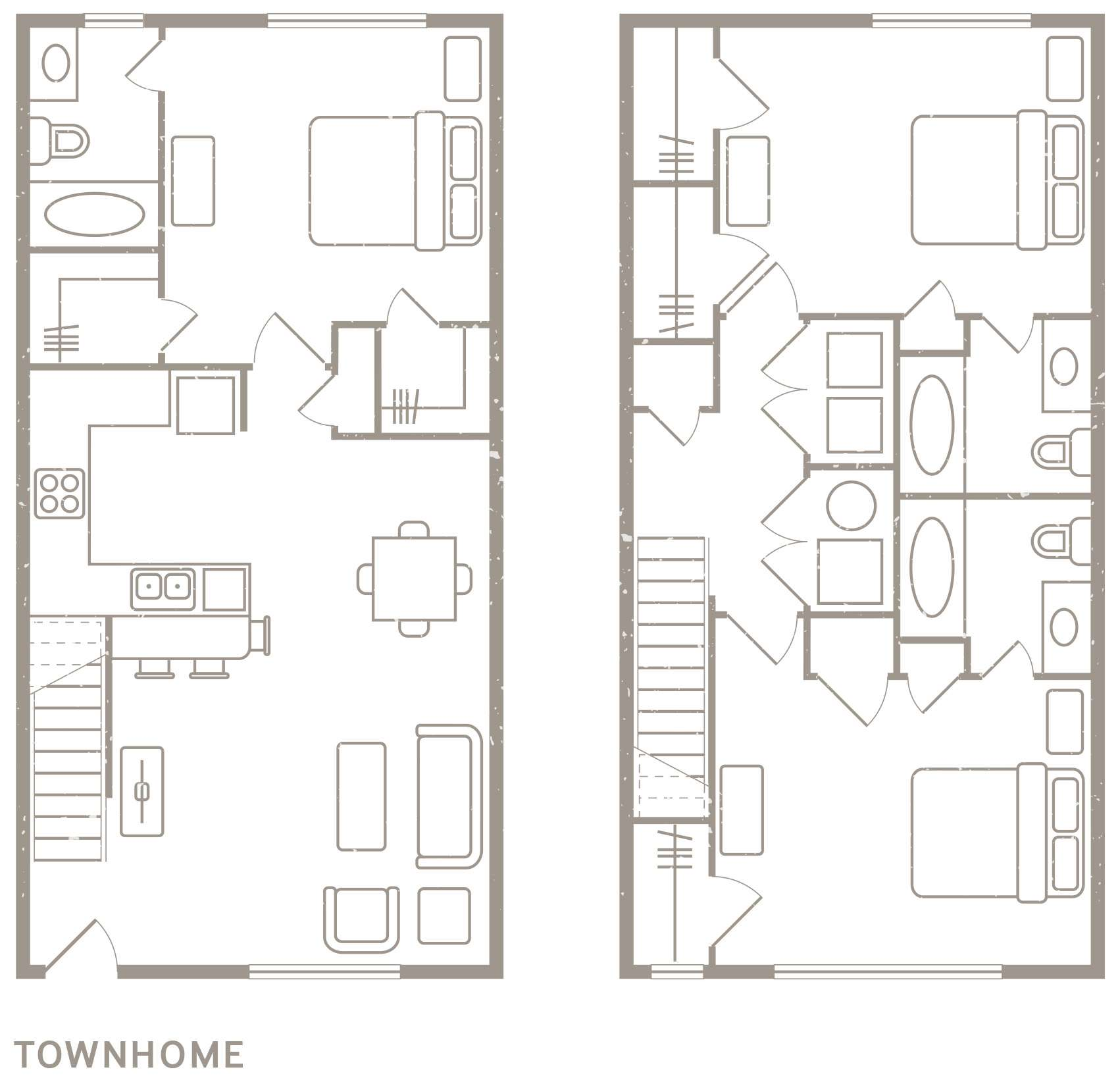4,3,2 Bedroom Apartment Floorplans
